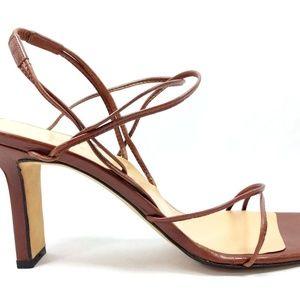 Richard Tyler Size 9.5 Brown Sandals Heels Strappy